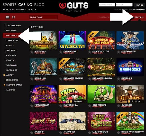Guts PlaynGo Slots