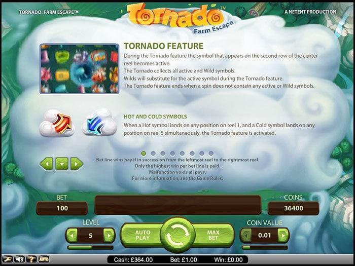 Tornado Farm Escape NetEnt