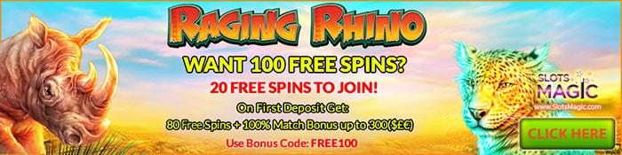 Raging Rhino Slots Magic