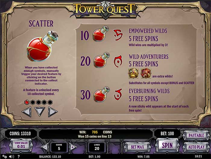 Tower Quest Slot Play