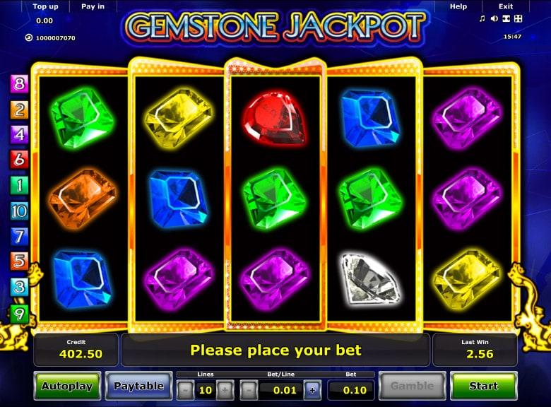 Gemstone Jackpot Novomatic