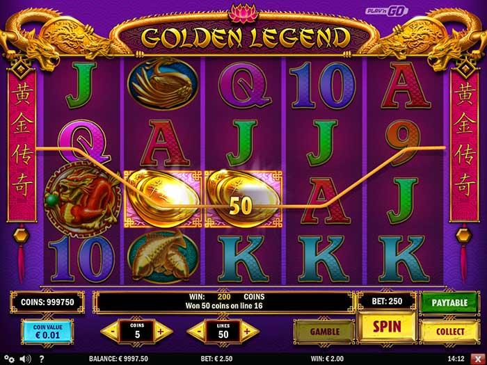 Golden Legend Slot Play