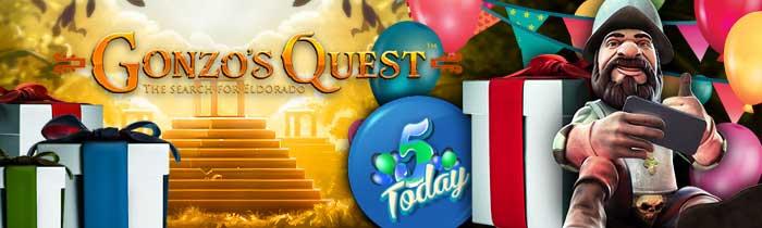 Gonzo's Quest 5th Birthday