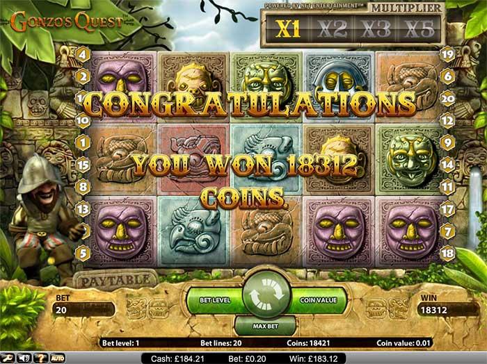 Gonzos Quest Luckydino Casino