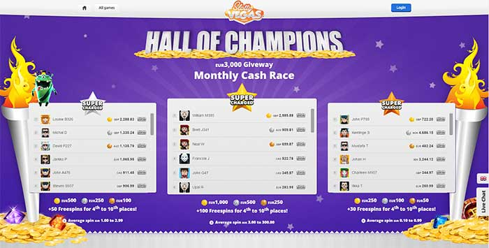 Hall Of Champions Slotty Vegas