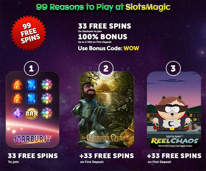 slots magic casino бездепозитный бонус