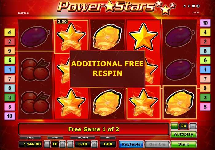 Power Stars Slot Novomatic