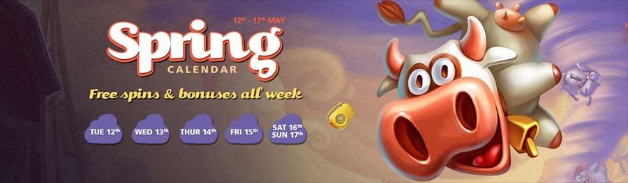 CasinoLuck Spring Calendar