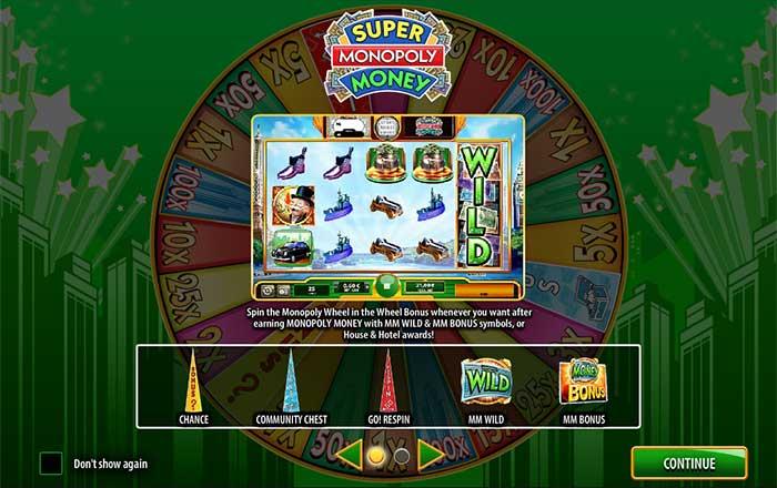 Super Monopoly Money Slot WMS