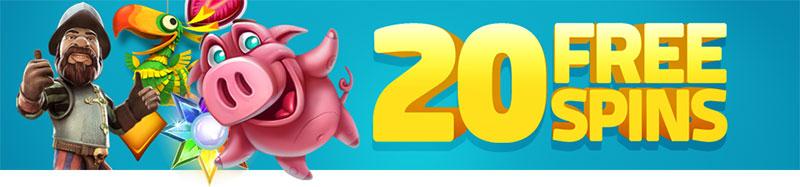 20 Free Spins LuckyDino Casino