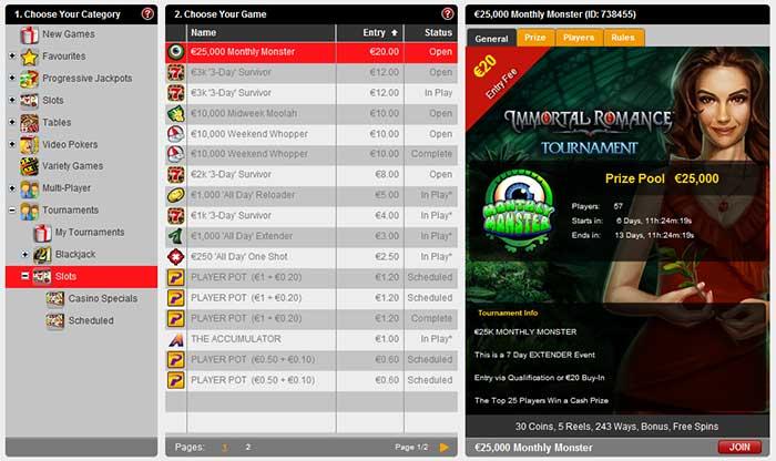 32Red Casino Tournaments