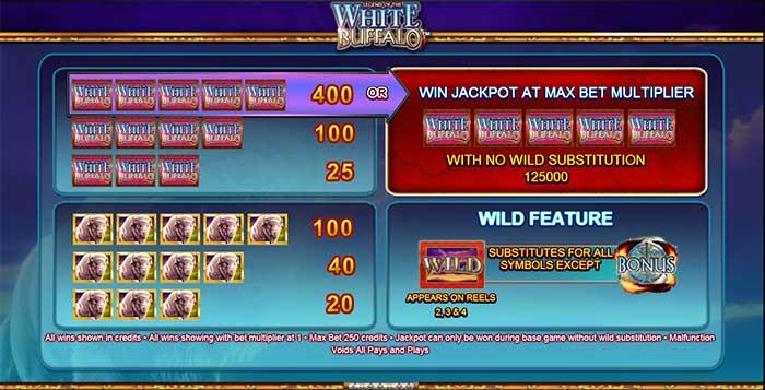 Legend of the White Buffalo Slot
