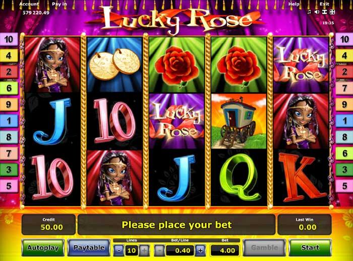 Lucky Rose Slot Novomatic
