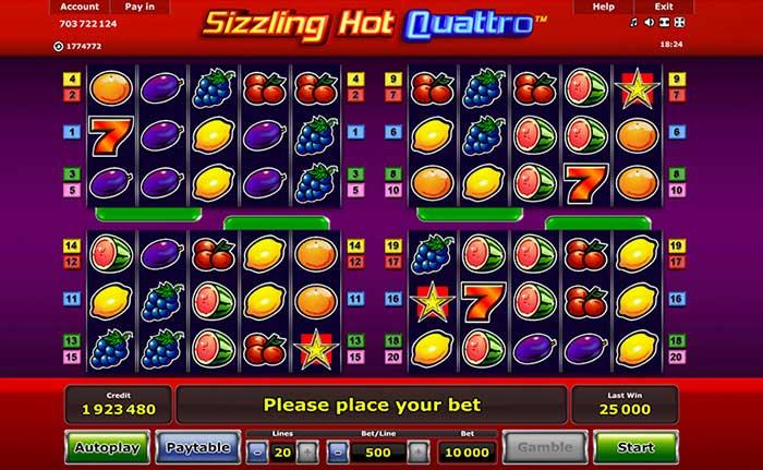 Sizzling Hot Quattro Slot Novomatic