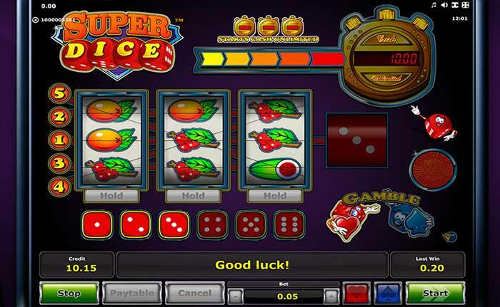 Super Dice Slot Novomatic