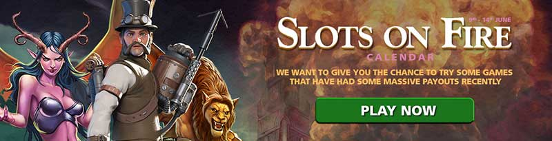 CasinoLuck Slots On Fire