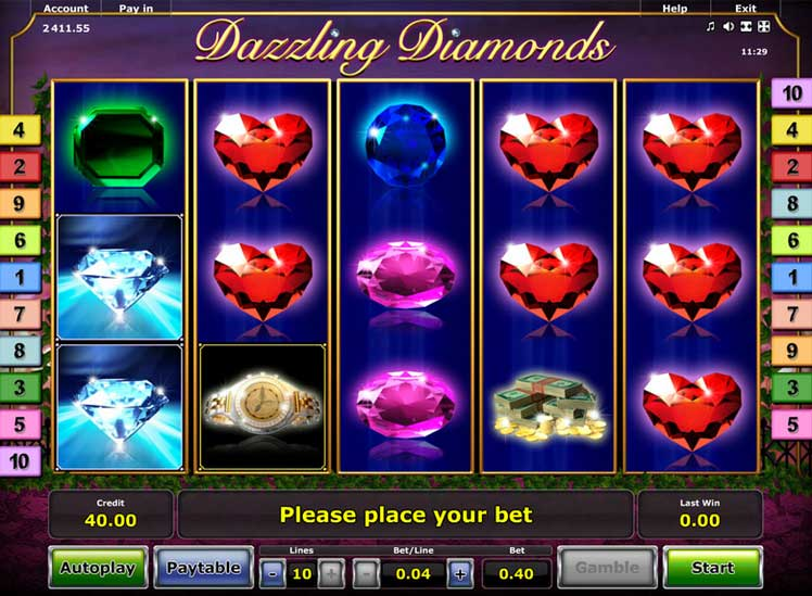 Dazzling Diamonds Slot Novomatic