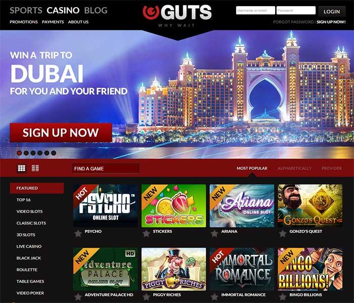 Guts Casino Free Spins No Deposit required