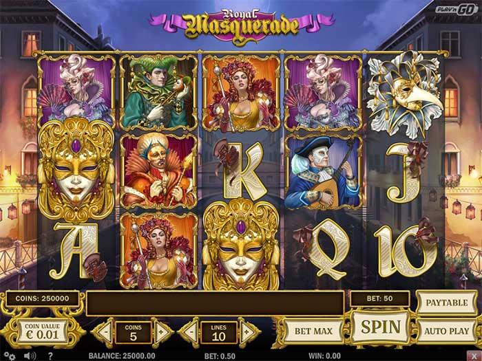 Royal Masquerade Slot Playngo