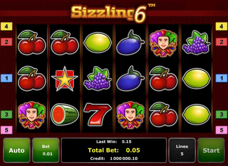 Sizzling 6 Slot Novomatic