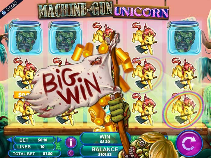 Machine Gun Unicorn Slot Genesis Gaming