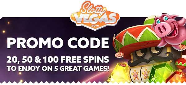 Slotty Vegas Free Spins Bonus Codes
