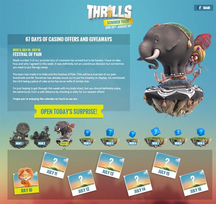 Thrills Casino Festival of Pain
