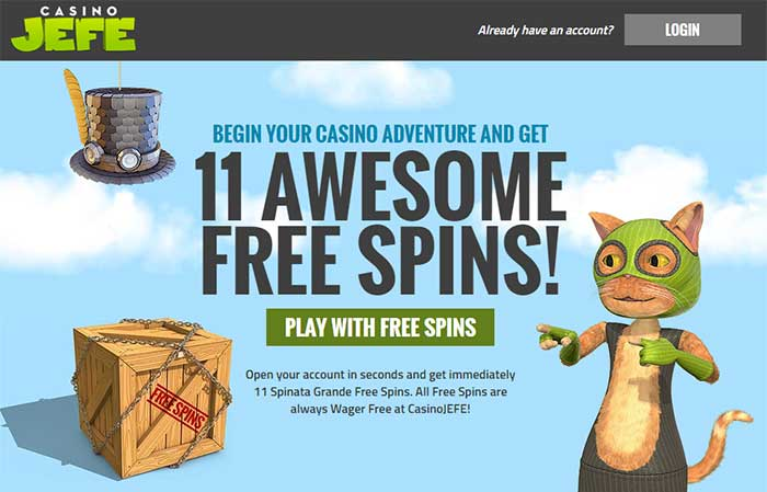 11 Free Spins Casino Jefe