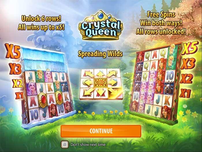 Crystal Queen Slot Quickspin