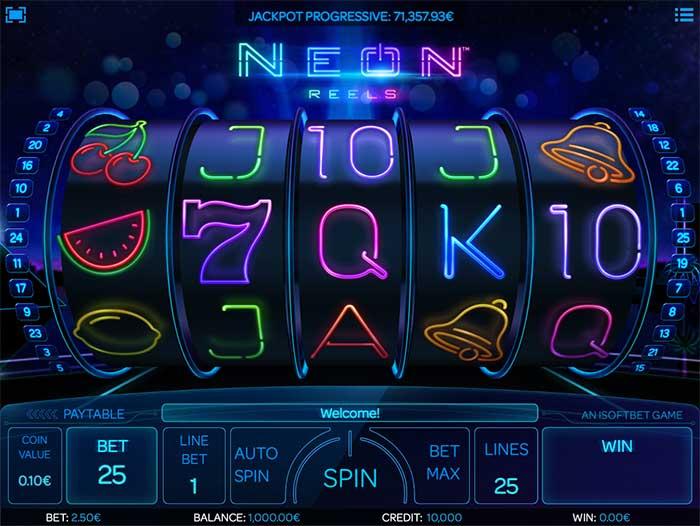 Neon Reels Slot iSoftbet
