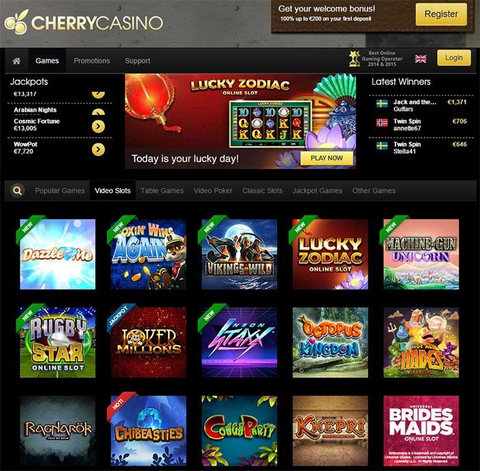 Cherry casino New Slots