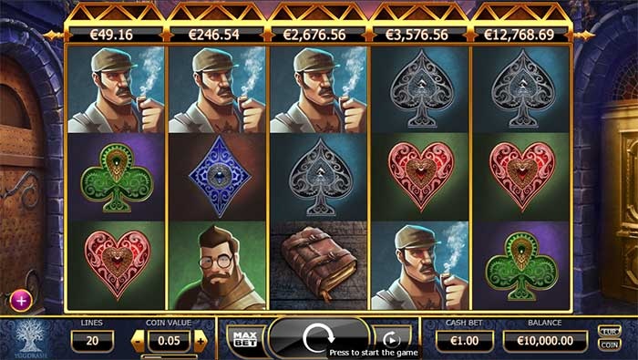Holmes and the Stolen Stones Slot Yggdrasil