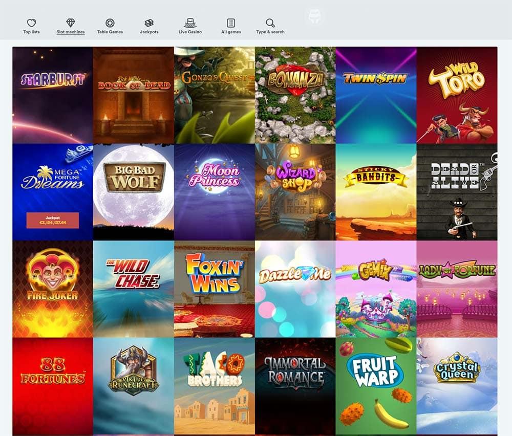 Casumo Casino - Range of Online Slots