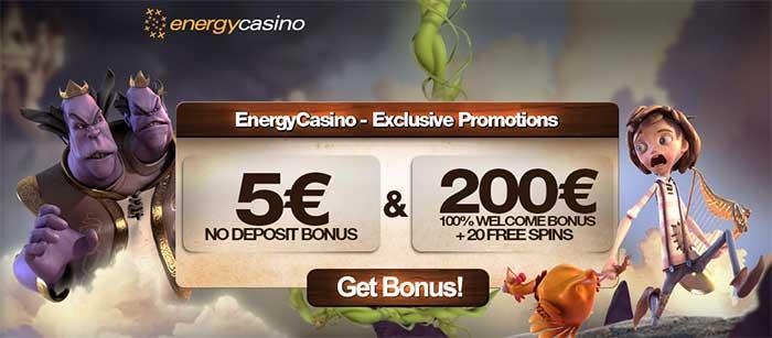 Energy Casino No Deposit