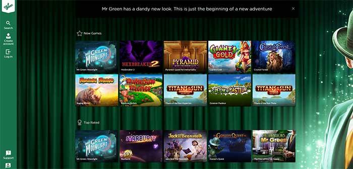 New Mr Green Casino