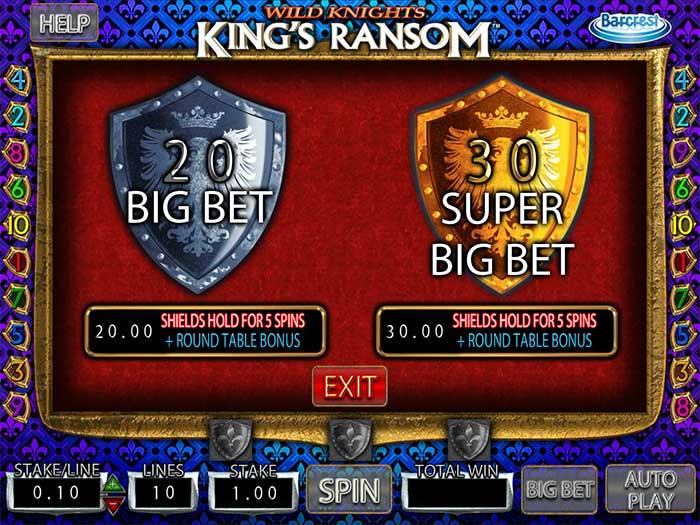 Wild Knights Kings Ransom Slot Barcrest