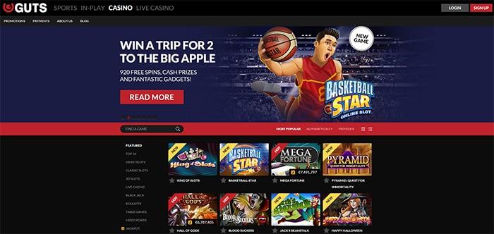 basketball Star Promotion Guts casino