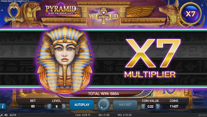Pyramid - Quest for Immortality - NetEnt