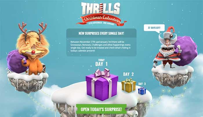 Thrills Casino Xmas Promotions 2015