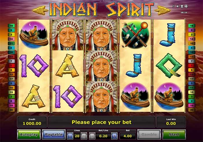 Indian Spirit Slot Novomatic