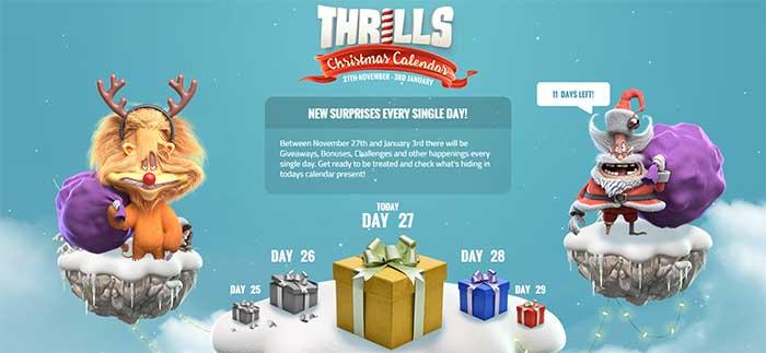 Thrills Casino Xmas Promotions