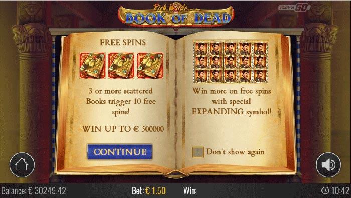 Book of Dead Slot Play'n GO