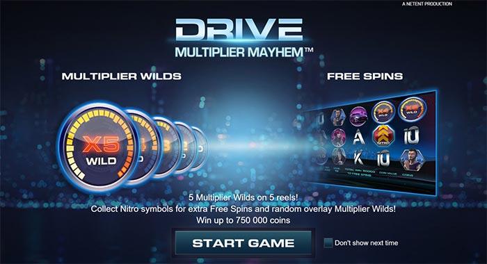 Drive Multiplier Mayhem Slot NetEnt