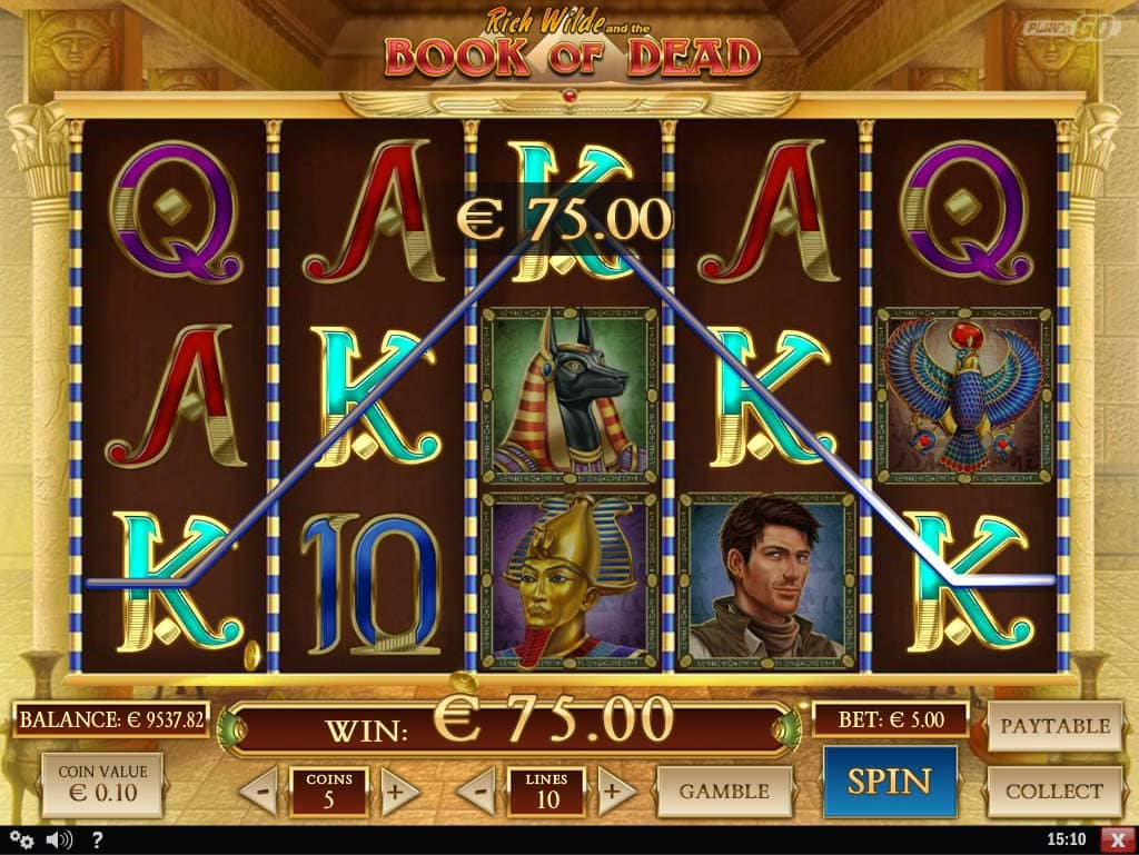 Book of Dead Slot - Line Hit