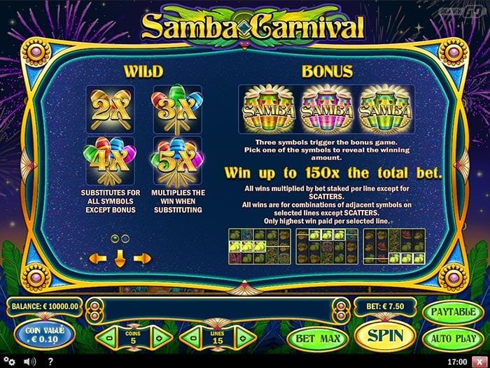 Samba Carnival Slot Play