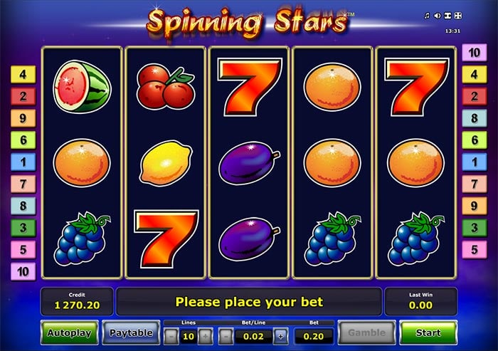 Spinning Stars Slot Novomatic