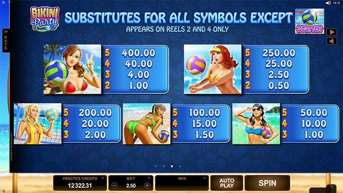 Bikini Party Slot Microgaming