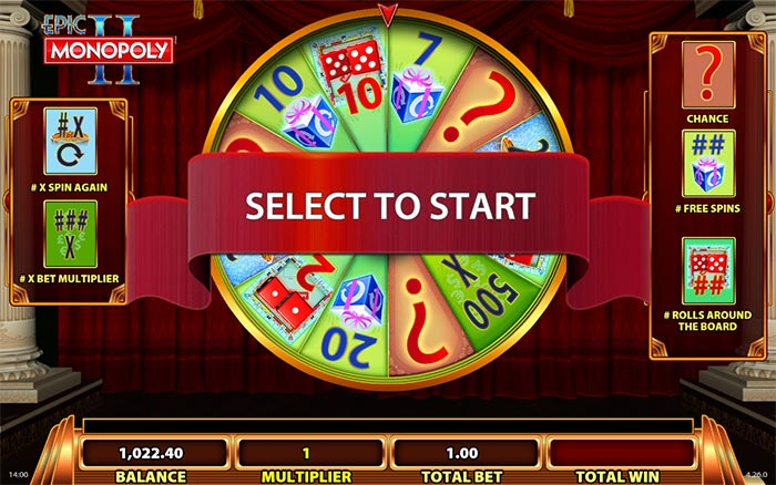 Epic Monopoly II Slot WMS