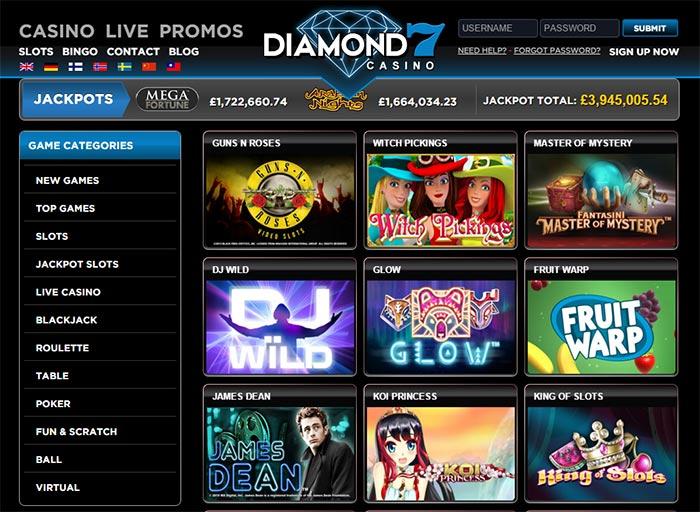 New Online Slots Diamond 7 Casino