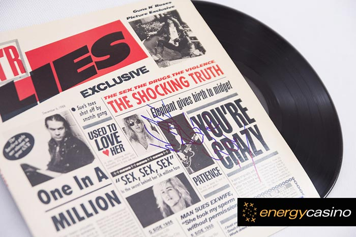 Record Signed by Axl Rose